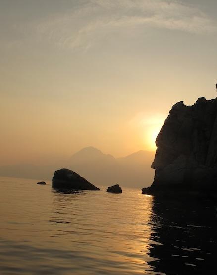 Couché soleil sur Oman (1)